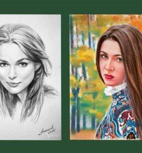 Портрет по фото и Картина маслом на заказ