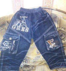 Комбез джинсовый шортами,джинсы 89520505337