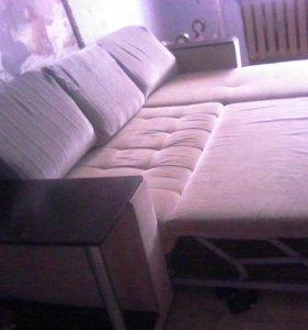 углавой диван строчно
