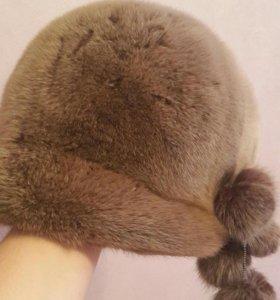Норковая женская шапка б/у