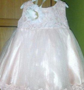 Продам платье для принцессы! корона в подарок