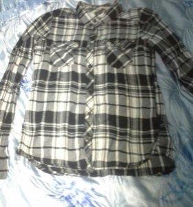 Рубашка модная, мягкая на 9-11лет стильная