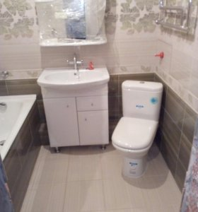 Ванные комнаты под ключ,ремонт квартир.