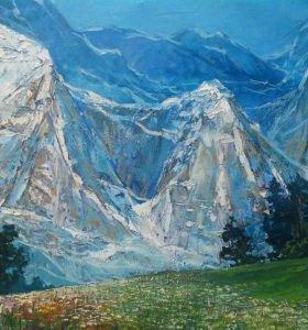 Картина Горный пейзаж Северный Кавказ