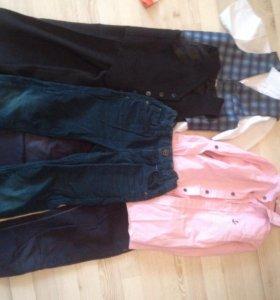 брюки , джинсы на мальчика 6-7 л, рубашки и жилетк