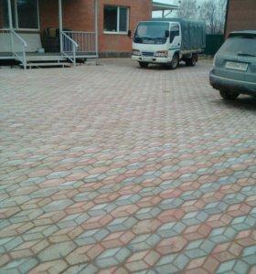 Вибролитая брусчатка, тротуарная плитка