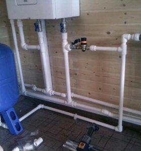Монтаж отопления, водоснабжение.