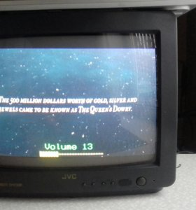 Телевизор JVC c14z, пульт.Работает.