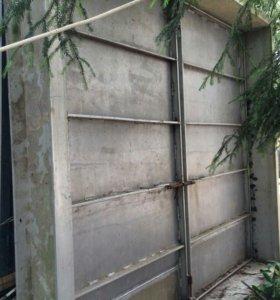 Ворота гаражные алюминивые
