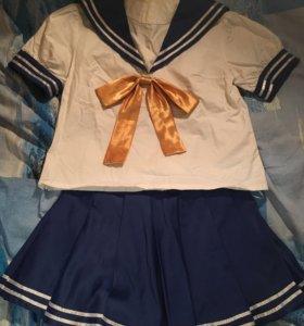 Косплей костюм японская школьная форма Lucky star
