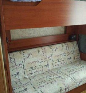 Двухярусная диван кровать