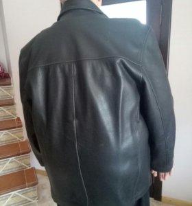 Куртка кожанная зимняя из гардероба Большого мужчи