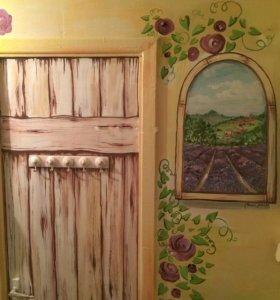 Художник, картины, уроки, роспись стен