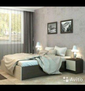 Кровать с матр+2 тумбы