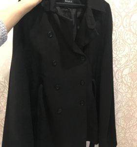 Пальто пончо новое