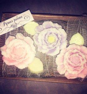 """Мыло ручной работы """"цветы"""" на 8 марта"""