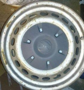 Штатные металлические диски R16 на микроавтобус