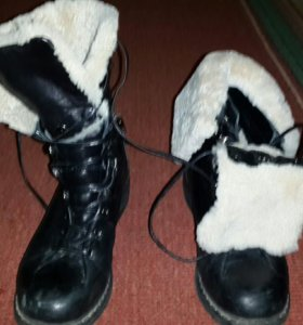 ботинки зимнее из нат. кожи и нат.меха