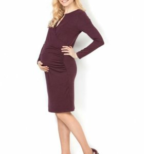 Платье для беременных и кормящих бордовое