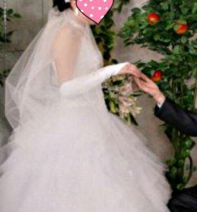 Свадебное платье.Белая лебедь