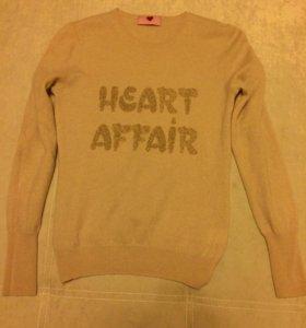 Кашемировая кофта Heart affair.