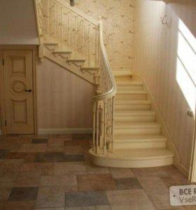 изготовление лестницы. отделочные работы.