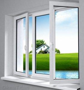 Пластиковые окна и двери Остекление балконов