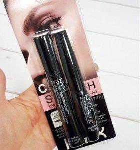 "Nyx ""Тушь+Подводка"" Clear Smooth Eyeliner 2в1"