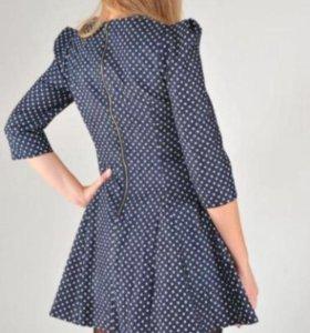 Платье из плотной джинсы