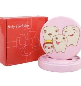 Кoробочка для детских зубов, для девочки, цвет роз