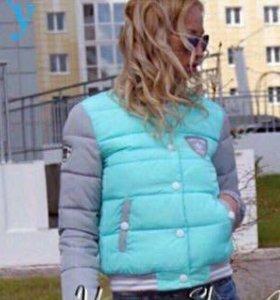 Женская куртка бомбер, НОВАЯ