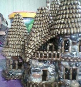 Рукодельное изделие Волшебный домик.