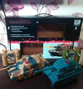Инфракрасный танковый бой Huanqi Tiger + Leopar