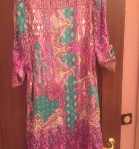 Легкое атласное платье на каждый день