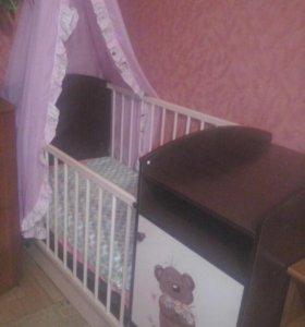 Кровать трансформер от 0 месяцев до 8 лет