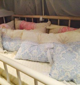 Бортики в кроватку(для девочки)