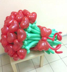 Огромный букет из шариков