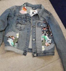 Куртка джинсовая из италии 11-12 лет