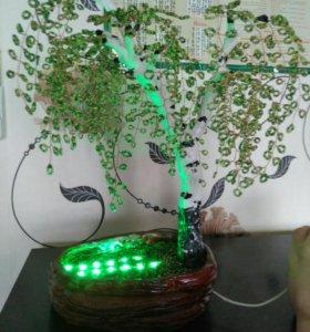 Дерево из бисера,светильник!