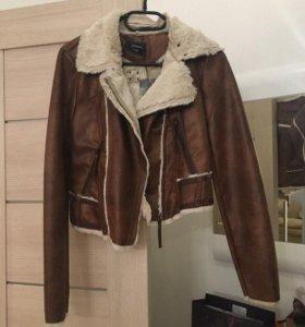 Куртка имитация дубленки идеальное состояние