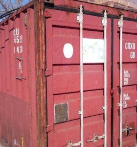 Металлический футовый контейнер склад