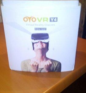 Очки виртуальной реальности с встроенными наушника