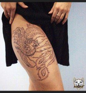 Татуировка в салоне  от