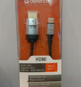 Кабель Defender HDMI-micro HDMI 1,8m