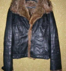 Куртка кожаная Зима!