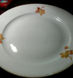"""Большое блюдо """"Кленовый лист"""". (Дулёво)"""