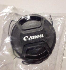 Крышка для объектива canon 58мм. новая.