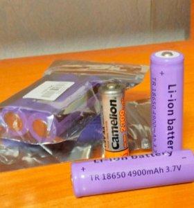 (5)Аккумуляторы 3,7v- 4900a