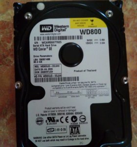Жесткий диск WD 800 на 80 гб