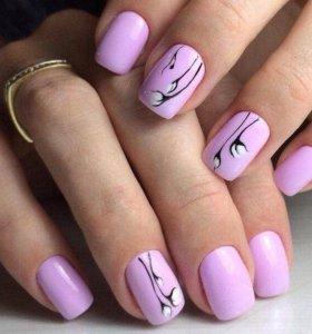 Наращивание и к коррекция ногтей на формы и типсы.